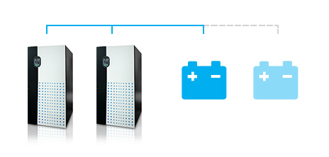 Ultron DPS 并聯模式下共享電池的配置